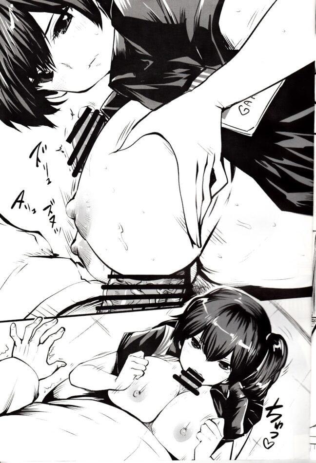 【艦これ エロ漫画・エロ同人】ローソンで働く加賀と鹿島がおまんこ丼で制服着衣のままおもてなしセックス♪
