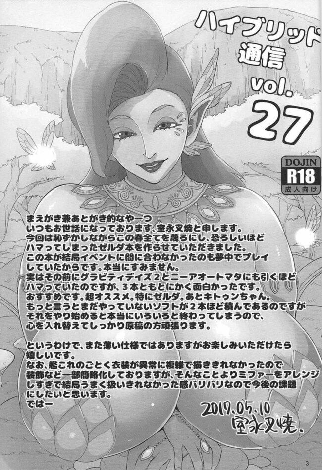 【エロ同人誌 ゼルダの伝説】ハイブリッド通信vol.27【無料 エロ漫画】 (2)