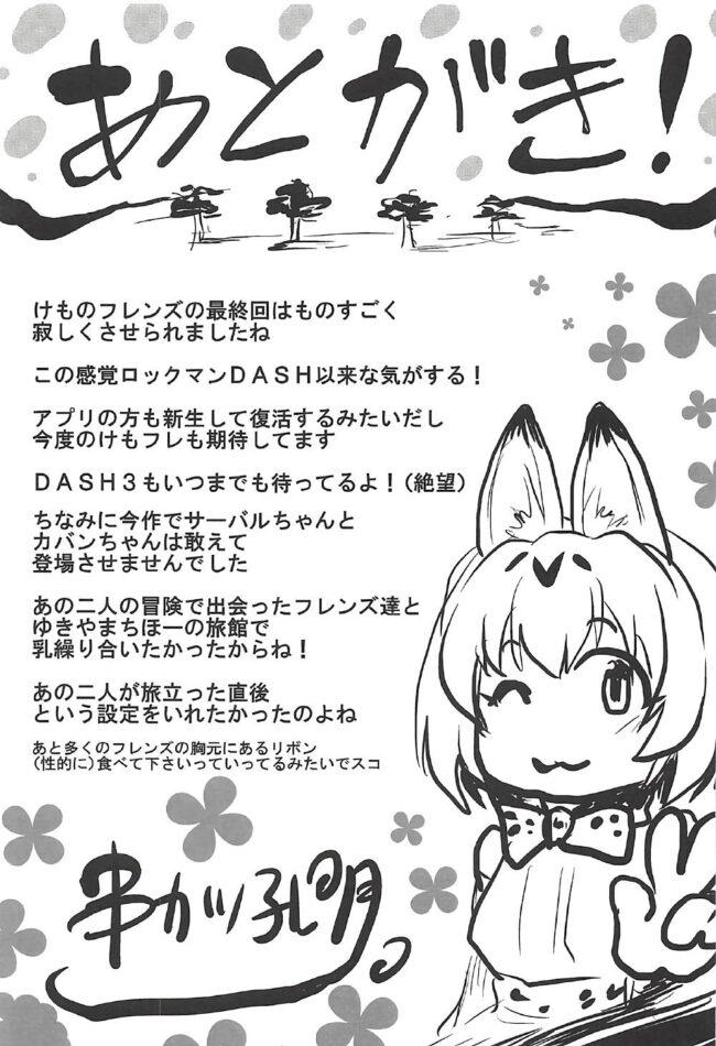 【エロ同人誌 けものフレンズ】想詰めBOX 38【無料 エロ漫画】 (28)