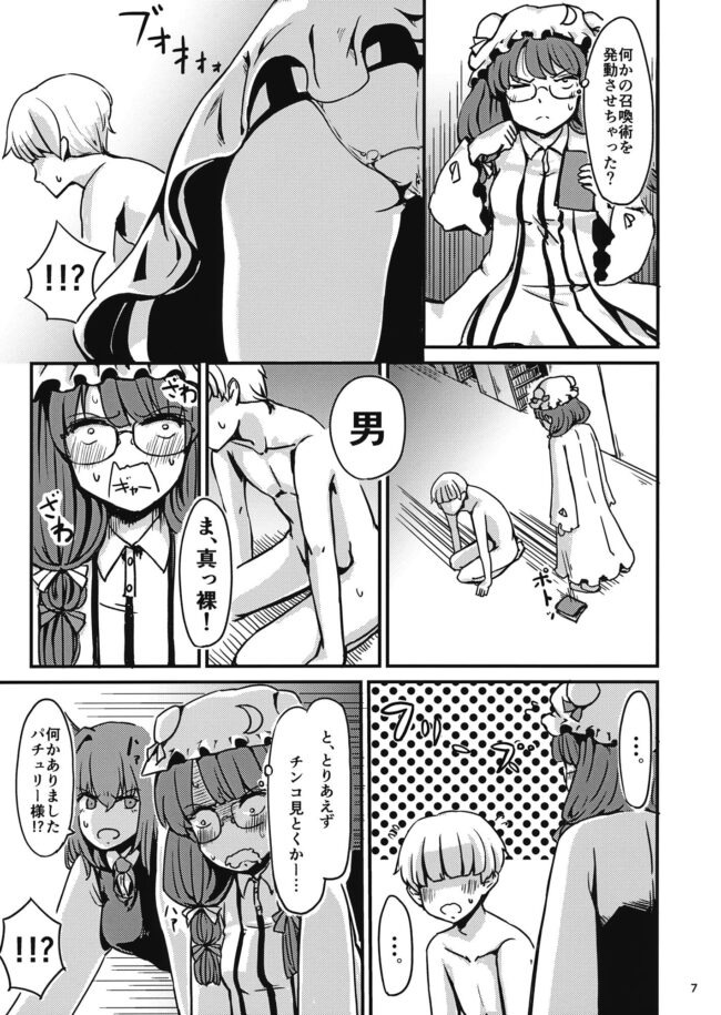 【エロ同人誌 東方】残念パチュリーのうっかり召喚術【無料 エロ漫画】 (8)